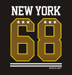 Athletic new york gold vector