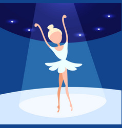 ballerina woman dancing ballet stage background vector image