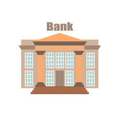 bank building banking financial flat front vector image