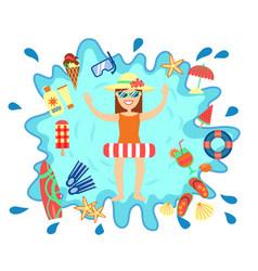 Beach summer splash fun concept vector