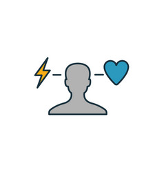 Behavior icon outline filled creative elemet from vector