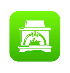 Blast furnace icon green vector