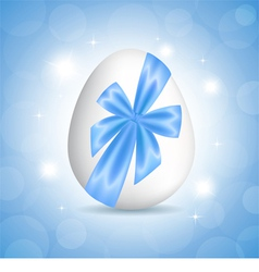 Blue card for Easter vector image