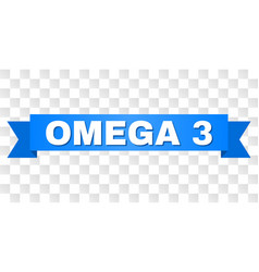 Blue stripe with omega 3 title vector