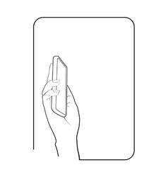 Border smartphone in hand 6 vector