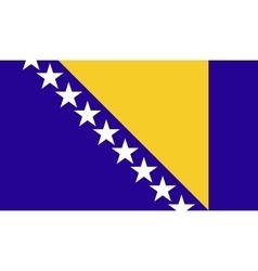 Bosnia and Herzegovina flag image vector image