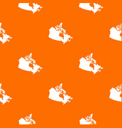 canada map pattern seamless vector image