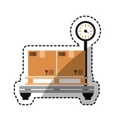 Cargo weight balance vector image