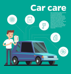 cars tips young man vector image