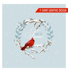 Christmas winter birds graphic design vector