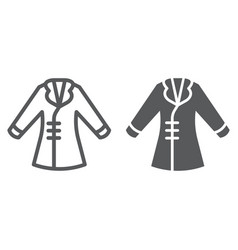 coat line and glyph icon clothing and fashion vector image