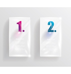 Collection transparent glass banners vector