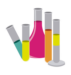 color clinical laboratory icon vector image