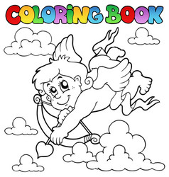 Coloring book valentine theme 2 vector