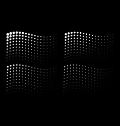 corner wavy gradient halftone dots backgrounds vector image