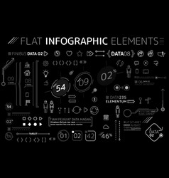 corporate flat infographic elements collection vector image