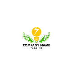 creative idea care logo design template bulb icon vector image