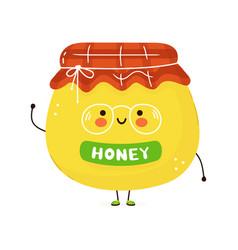 cute funny honey character hand drawn vector image