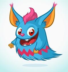 Cute monster cartoon Halloween vector image