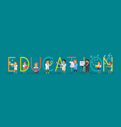 education banner science alphabet vector image