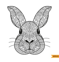 entangle rabbit head for for adult antistress col vector image