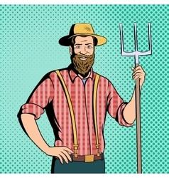 Farmer comics character vector