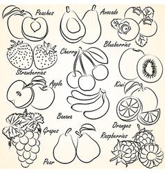 fruits set2 vector image