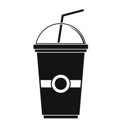 green kiwi smoothie icon simple style vector image