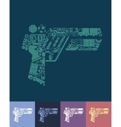 Gun game icon vector