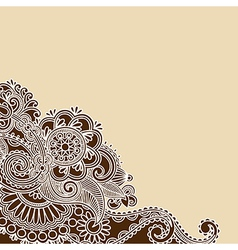 Hand drawn abstract henna doodle design element vector