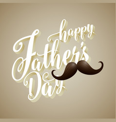 happy fathers day 3d typography background vector image