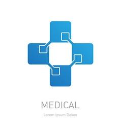 High-tech medicine logo Medical logotype design vector