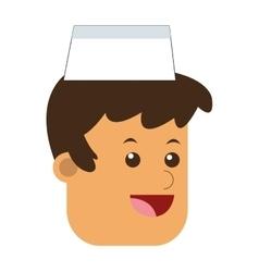 ice cream vendor icon vector image