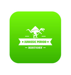 jurassic history icon green vector image