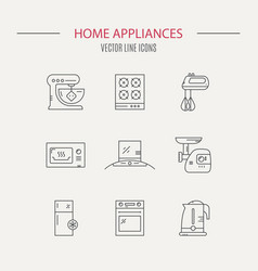 kitchen icons collection vector image