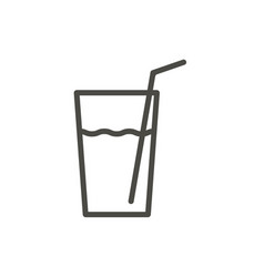 lemonade icon outline lemon juice line dr vector image