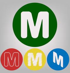 Letter m sign design template element 4 vector