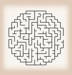 maze game on vintage background vector image