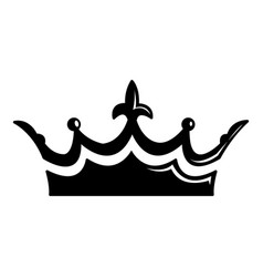 Medieval crown icon simple black style vector