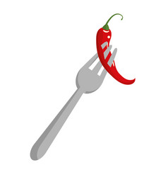 mexican chilli food vector image