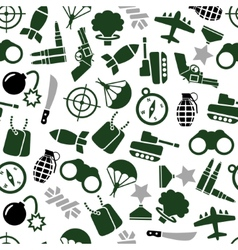 Military seamless pattern vector