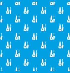nail polish pattern seamless blue vector image