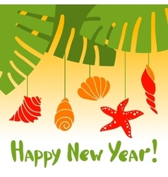 New year in the tropics vector