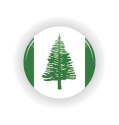Norfolk Islands icon circle vector image