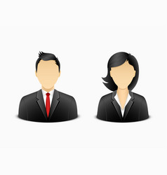 office man and woman avatar vector image