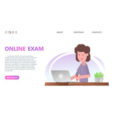 online testing or exam service concept vector image