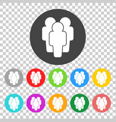 People - icon silhouettes flat vector