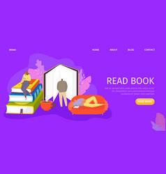 People read book everywhere vector