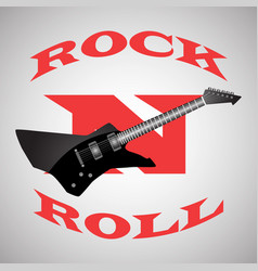 Poster to the world day of rock n roll black vector