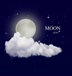 Realistic moon vector